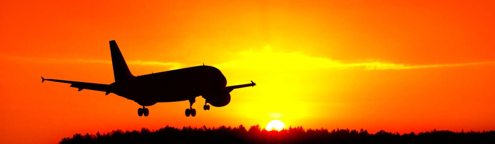 airplane-sunset